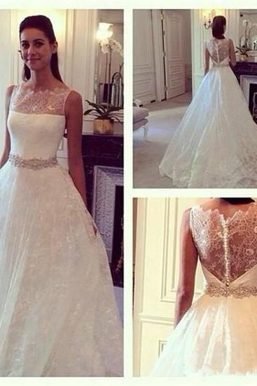 Long Wedding Dresses,Lace Wedding Dress,White Wedding Dresses Off The Shoulder Wedding Dresses See Through Wedding Dresses Appliques Bridal Dresses