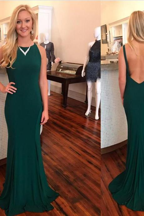dark green prom dress,mermaid evening dress,sexy backless prom dresses,sexy backless dark green evening dress,sexy mermaid prom dress