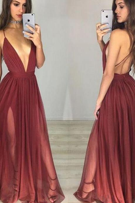 F342 Princess Sleeveless Spaghetti Straps Chiffon Floor-Length Ruched Dresses